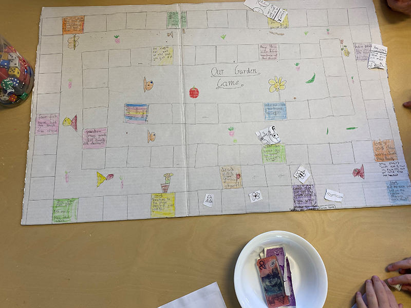 Board game created by students